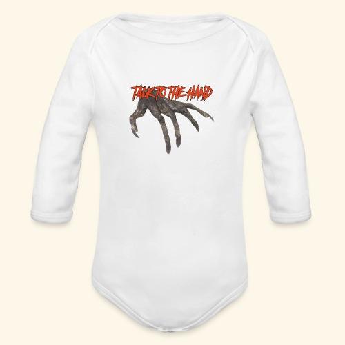 Talk To The Hand - Baby bio-rompertje met lange mouwen