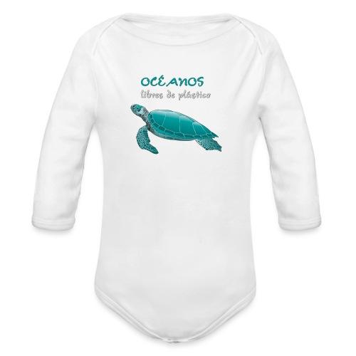 Océanos libres de plástico - Body orgánico de manga larga para bebé