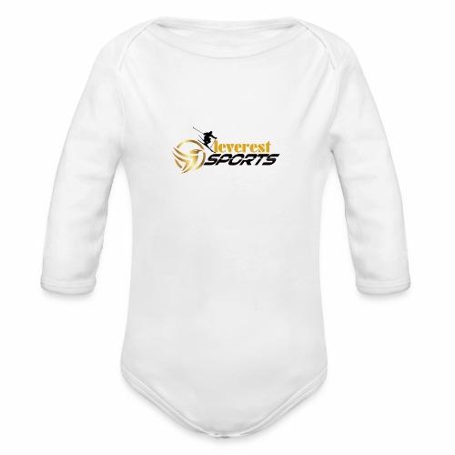 Skifahrer - Baby Bio-Langarm-Body