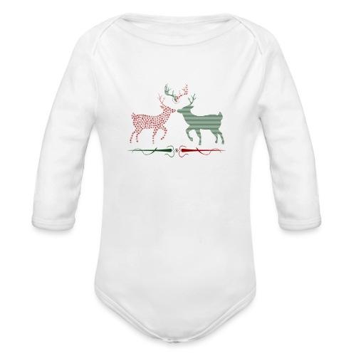 Christmas deer - Organic Longsleeve Baby Bodysuit