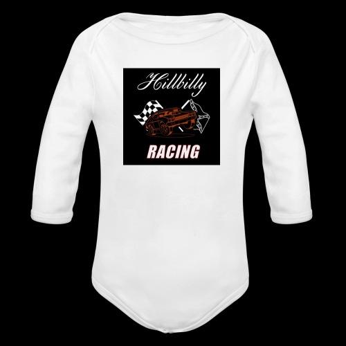 Hillbilly racing merchandise - Baby bio-rompertje met lange mouwen