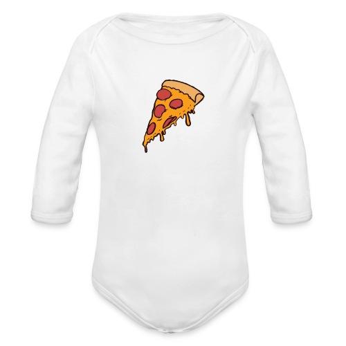 Pizza - Body orgánico de manga larga para bebé