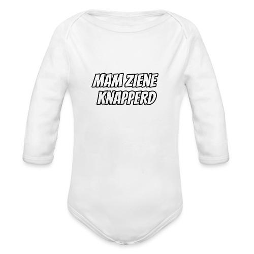 Mam Ziene Knapperd - Baby bio-rompertje met lange mouwen