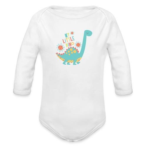 My Little Dino - Baby bio-rompertje met lange mouwen