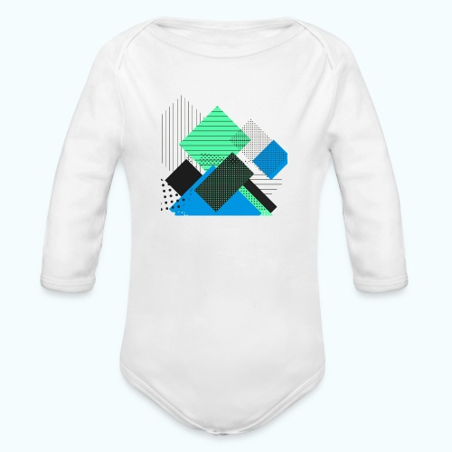 Abstract rectangles pastel - Organic Longsleeve Baby Bodysuit