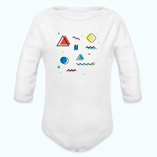 Abstract geometry - Organic Longsleeve Baby Bodysuit