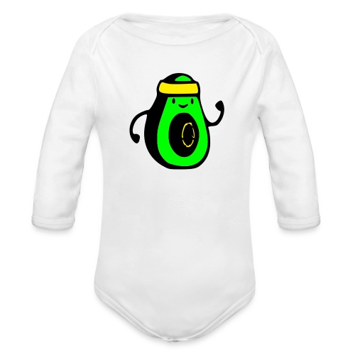 aguacate ninja - Body orgánico de manga larga para bebé