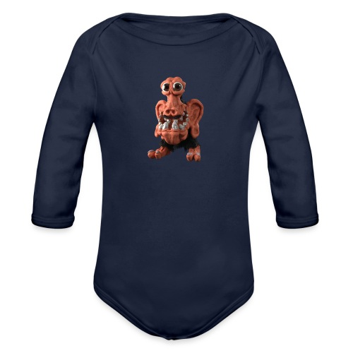 Very positive monster - Organic Longsleeve Baby Bodysuit
