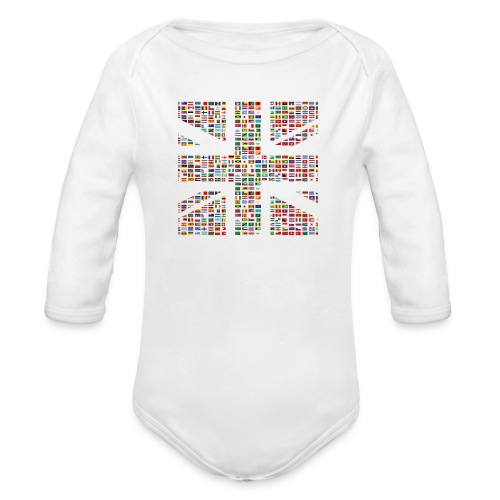The Union Hack - Organic Longsleeve Baby Bodysuit