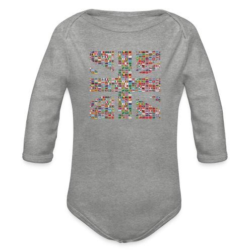 The Union Hack - Organic Longsleeve Baby Bodysuit
