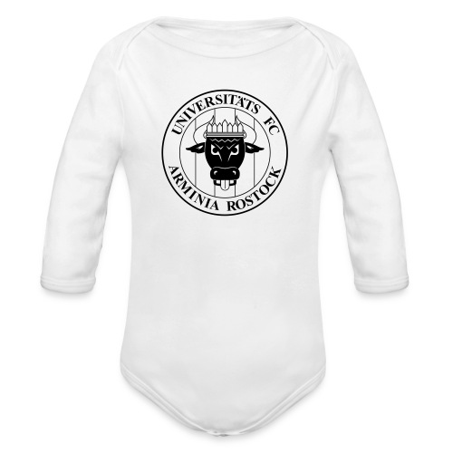 UFC Logo nur schwarz - Baby Bio-Langarm-Body