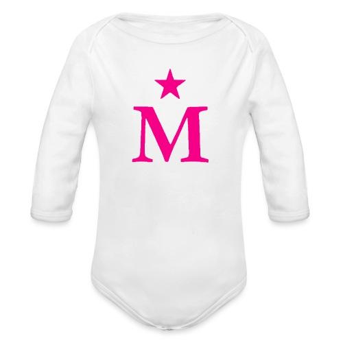 M de Moderdonia rosa - Body orgánico de manga larga para bebé