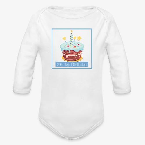 Birthday - Body ecologico per neonato a manica lunga