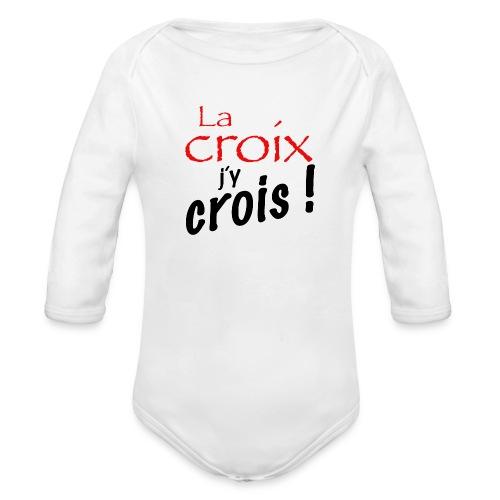 la croix jy crois - Body Bébé bio manches longues
