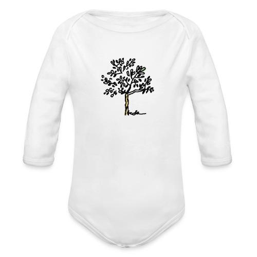 Jeune olivier - Baby Bio-Langarm-Body