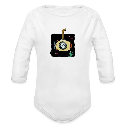 Sous-marin jaune - Baby Bio-Langarm-Body