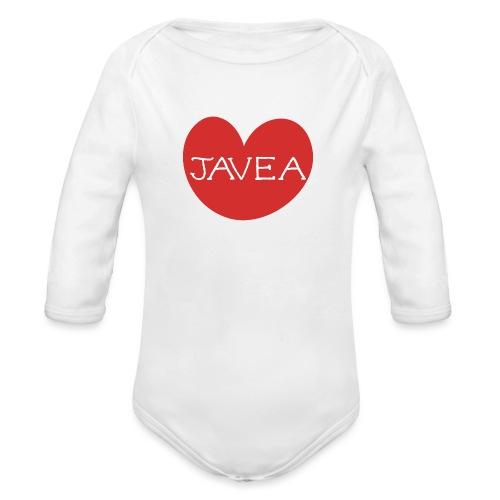 LOVE JAVEA - Body orgánico de manga larga para bebé