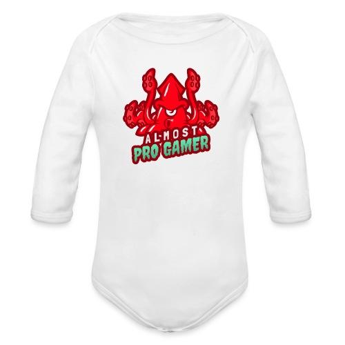 Almost pro gamer RED - Body ecologico per neonato a manica lunga