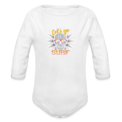 Surf till Death - Baby Bio-Langarm-Body
