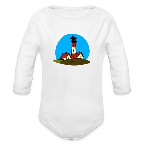 Leuchtturm Westerhever - Baby Bio-Langarm-Body