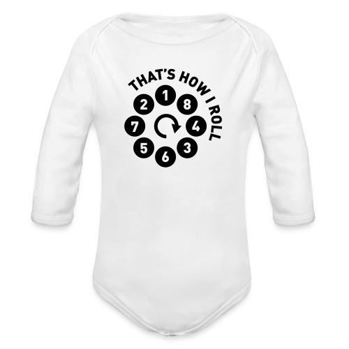 v8firingroll01b - Økologisk langermet baby-body