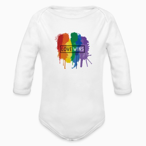 Love Wins - Organic Longsleeve Baby Bodysuit