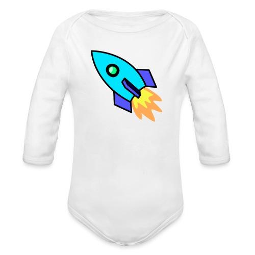 Blue rocket - Organic Longsleeve Baby Bodysuit
