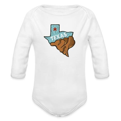 Texas - Baby Bio-Langarm-Body