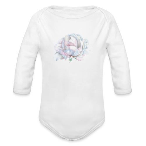 White Rose - Baby Bio-Langarm-Body