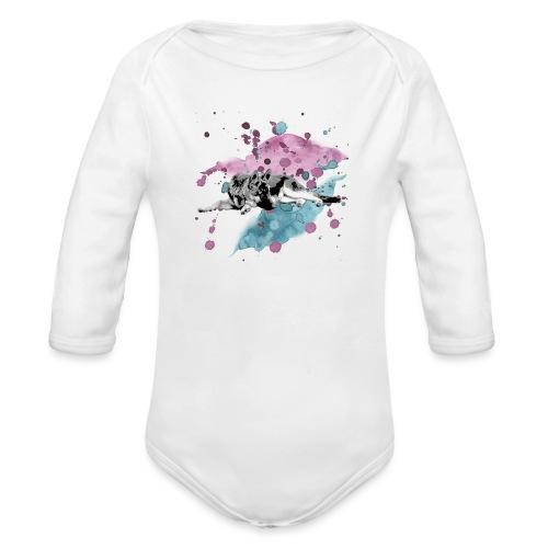 Shepherd Watercolor - Baby Bio-Langarm-Body