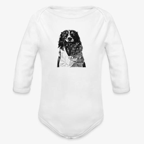 Pies Cocker Spaniel - Ekologiczne body niemowlęce z długim rękawem