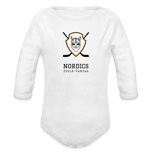 Etelä-Vantaan Nordics - Vauvan pitkähihainen luomu-body