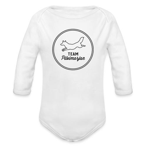 pilvimarjanlogovalk - Vauvan pitkähihainen luomu-body