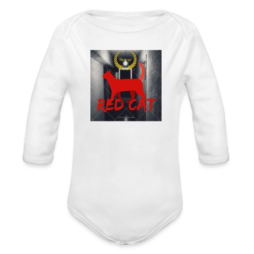 Red Cat (Deluxe) - Organic Longsleeve Baby Bodysuit