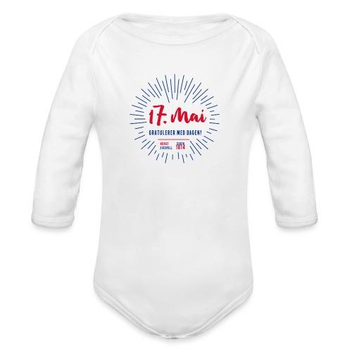 17. mai T-skjorte - Det norske plagg - Økologisk langermet baby-body
