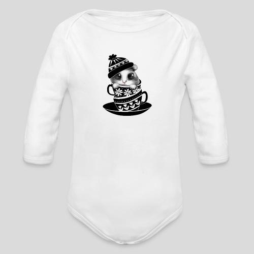 Schwarze Tiere - Baby Bio-Langarm-Body