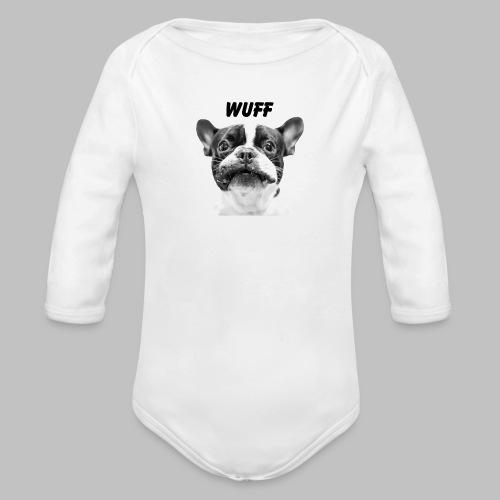 Wuff - Hundeblick - Hundemotiv Hundekopf - Baby Bio-Langarm-Body