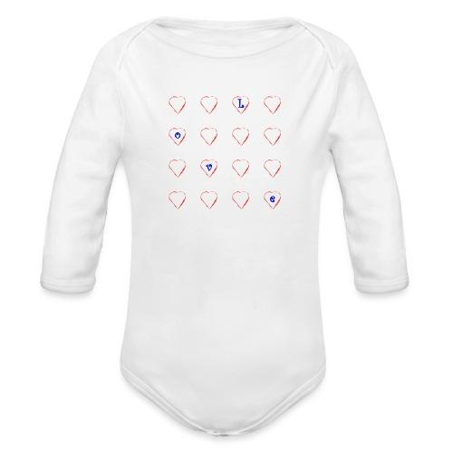 Heart Love #2 - Baby Bio-Langarm-Body