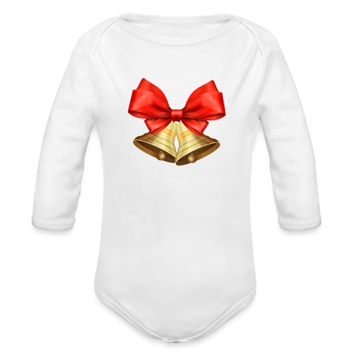 Pngtree christmas bell 3715872 - Body orgánico de manga larga para bebé
