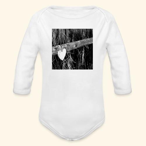 Cuore appeso - Body ecologico per neonato a manica lunga