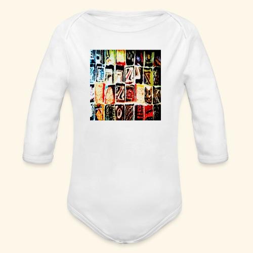 Mosaico - Body ecologico per neonato a manica lunga