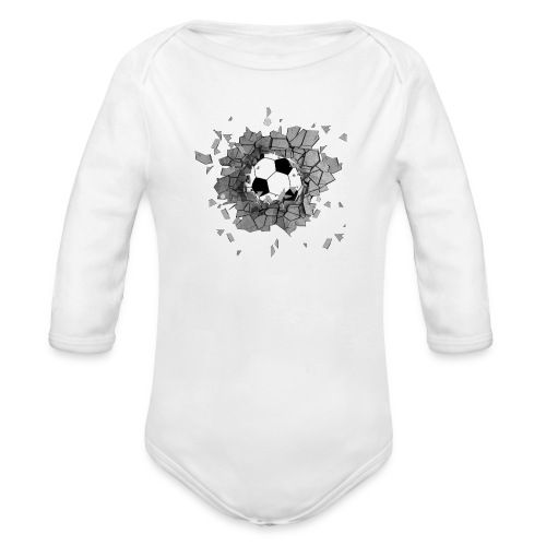 Football durch wand - Baby Bio-Langarm-Body