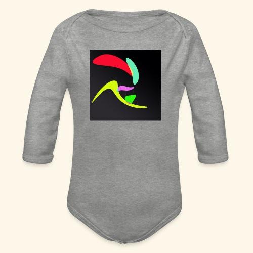 Pop art70 - Body ecologico per neonato a manica lunga