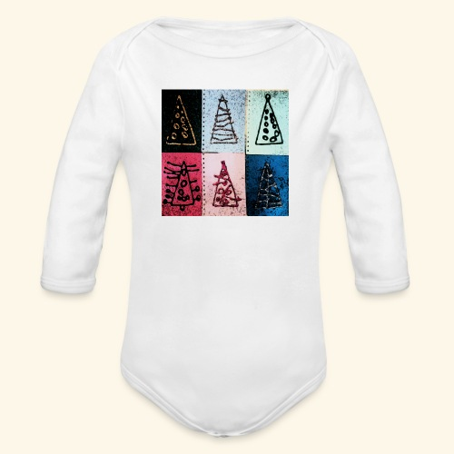 Alberi natale - Body ecologico per neonato a manica lunga