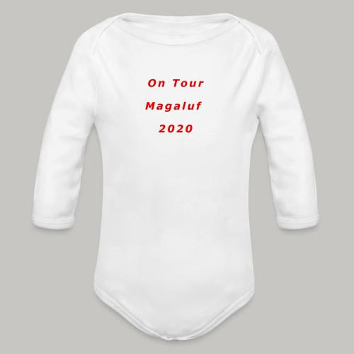 On Tour In Magaluf, 2020 - Printed T Shirt - Organic Longsleeve Baby Bodysuit