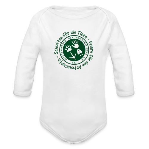 Schuften für die Tiere, Feiern für den Artenschutz - Baby Bio-Langarm-Body