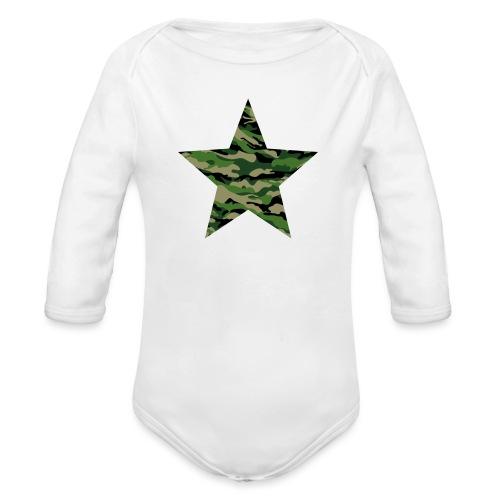 CamouflageStern - Baby Bio-Langarm-Body