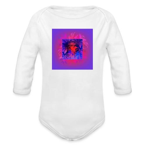 Tropical Summer Nights - Organic Longsleeve Baby Bodysuit