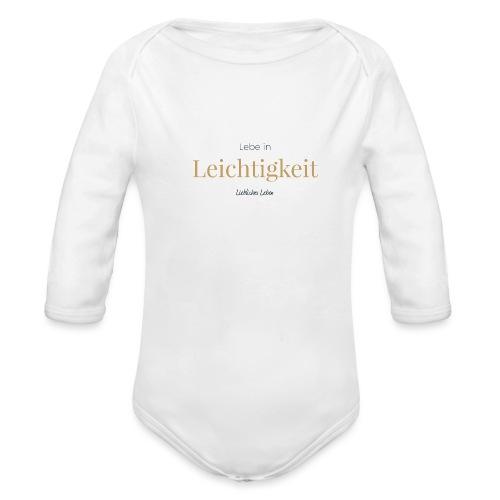 Liebliche Kollektion - Lebe in Leichtigkeit - Baby Bio-Langarm-Body