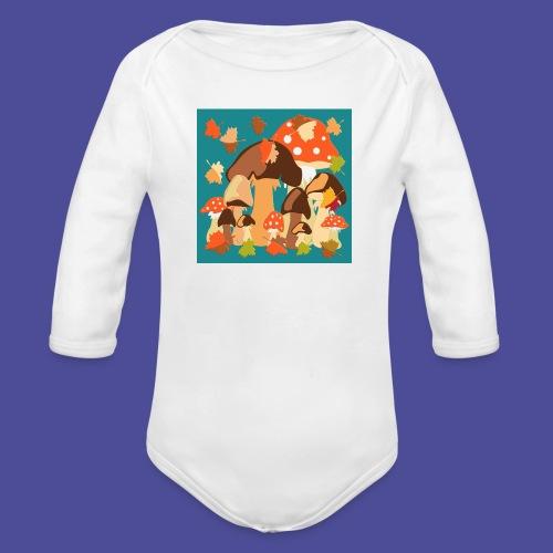 Pilze - Baby Bio-Langarm-Body